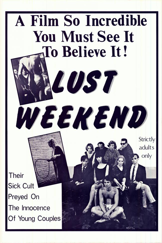 Lust Weekend- Original Movie Poster