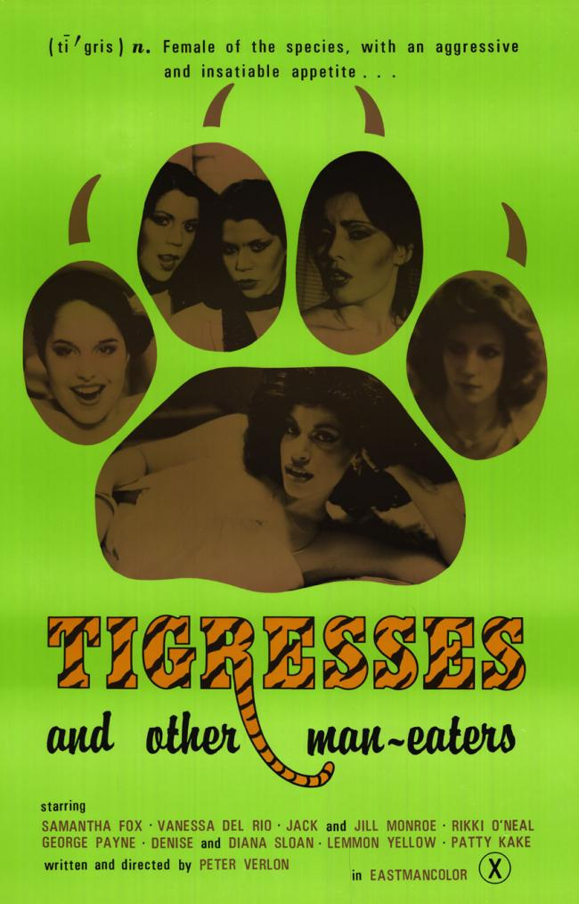 Tigresses and other man-eaters - Orignal Movie Poster- GREEN