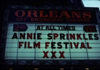 Annie Sprinkle Film Festival, at the Orleans Theater- 35 mm slide