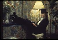 Darby Lloyd Rains, Gilly with the top hat, in costume
